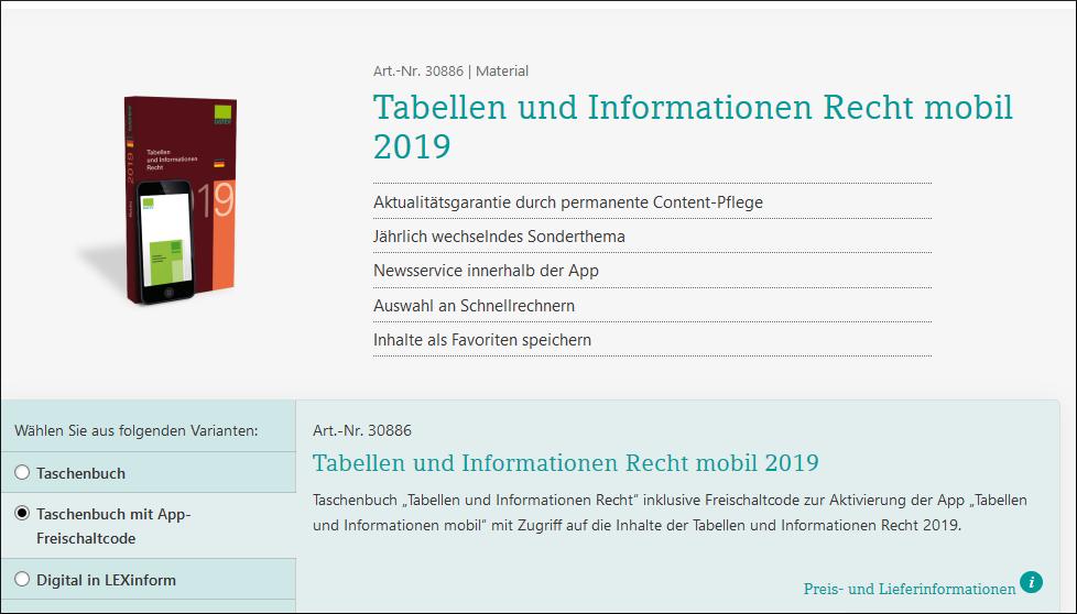 tabellen & informationen datev