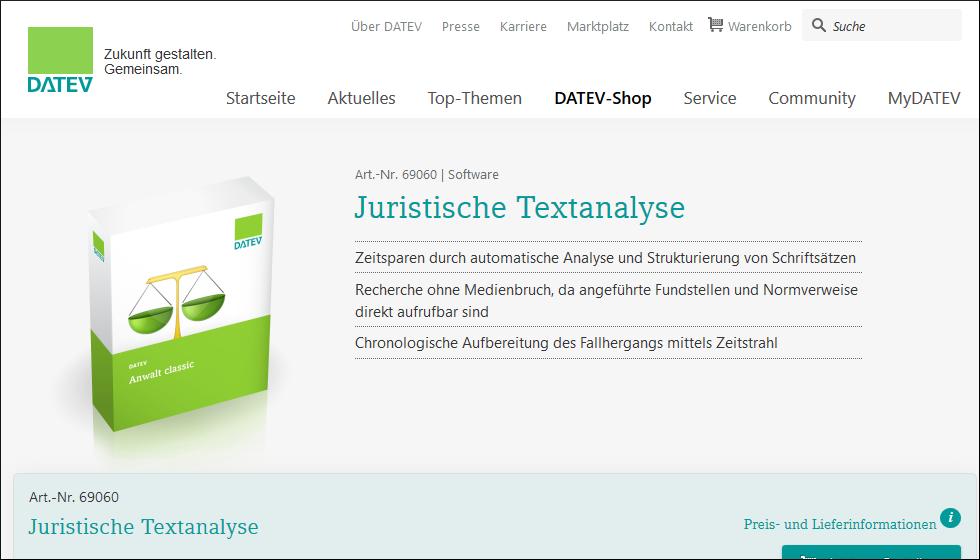 DATEV Juristische Textanalyse