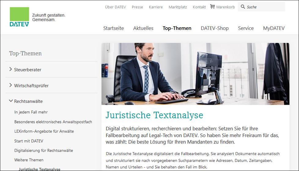 Juristische Textanalyse