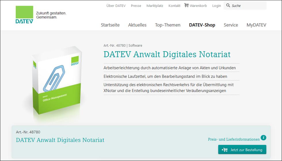 DATEV Anwalt Digitales Notariat